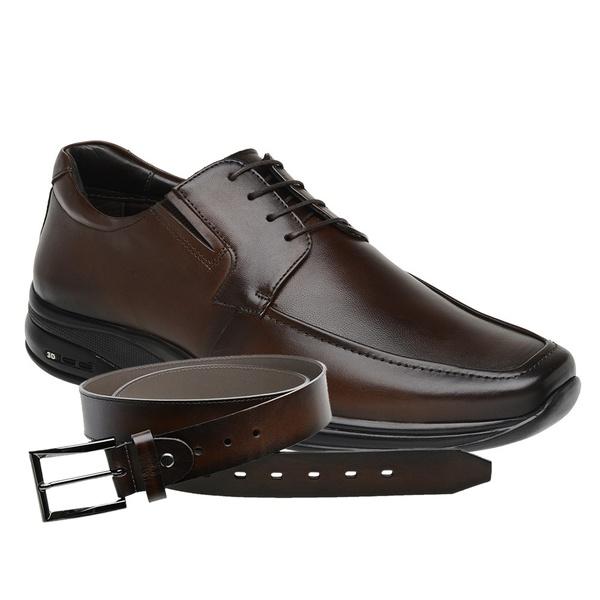 Sapato Jota Pe Marrom 3D Air Imax Plus + Cinto de Couro