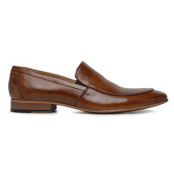 Sapato Social Caramelo Couro Wood