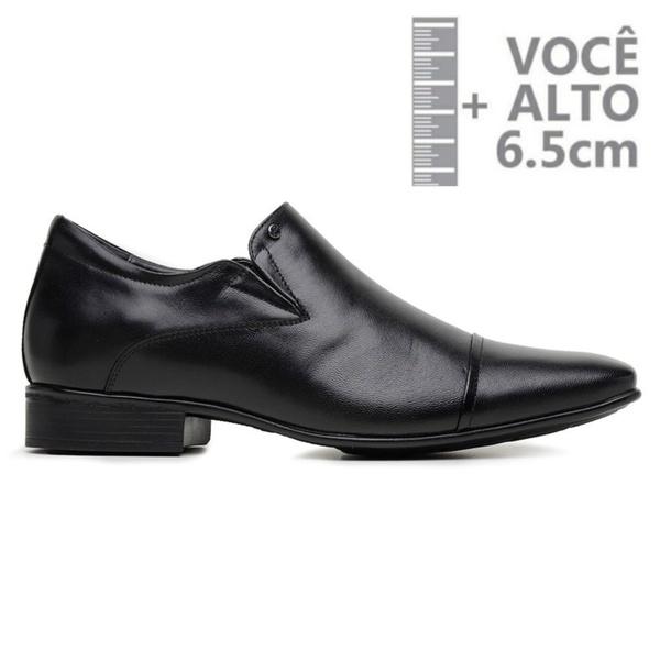 Sapato com Salto Interno Jota Pe Preto Grow Air Detroit