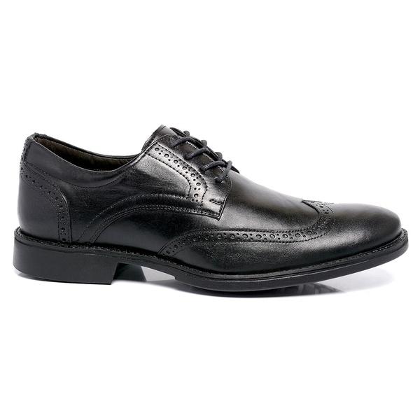 Sapato Masculino Preto em Couro Comfort Toro