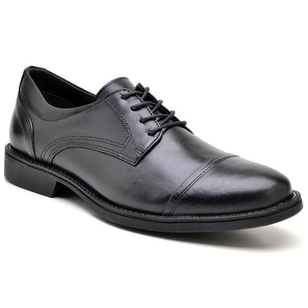 Sapato Masculino Preto em Couro Toro