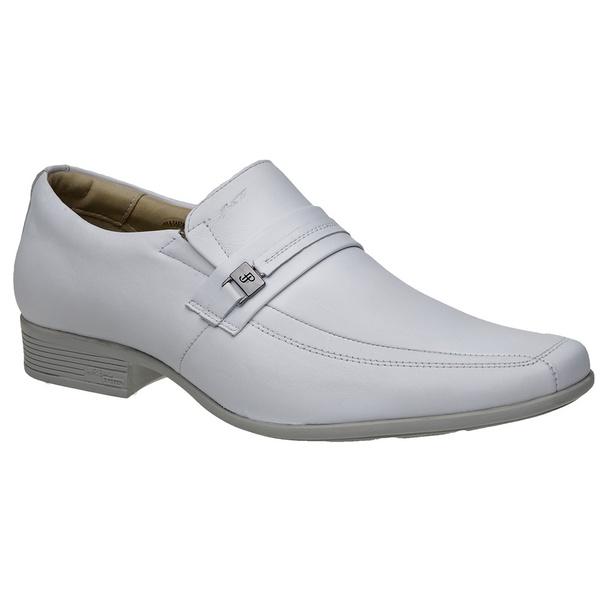 Sapato Jota Pe Couro Branco Air King