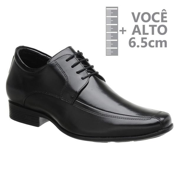 Sapato com Salto Interno Jota Pe Preto Grow Air King