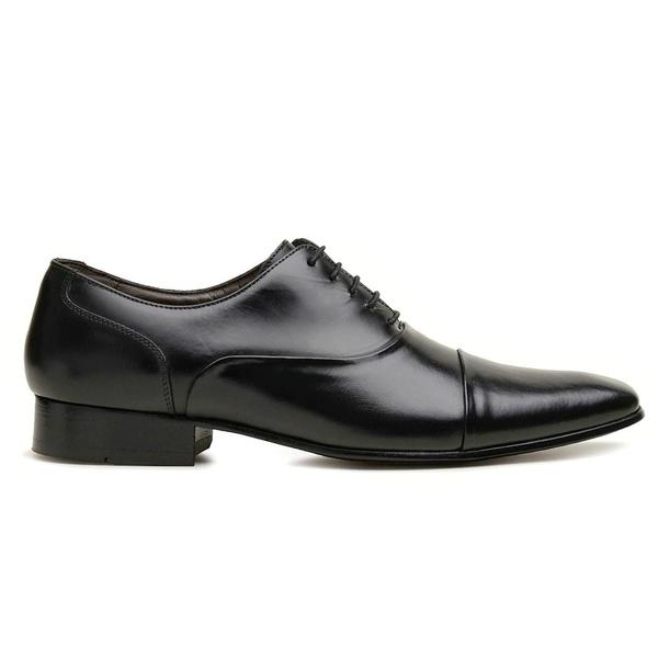 Sapato Social Couro Preto Premium Executive