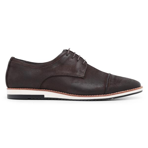 Sapato Casual Derby Café Nobuck