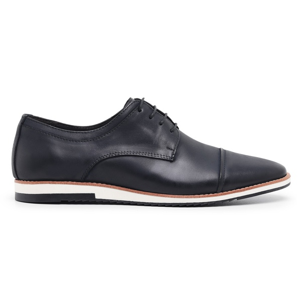 Sapato Casual Derby Preto Noite Nobuck