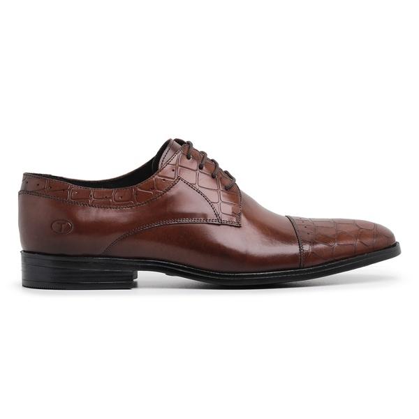 Sapato Social Whisky Croco Wood