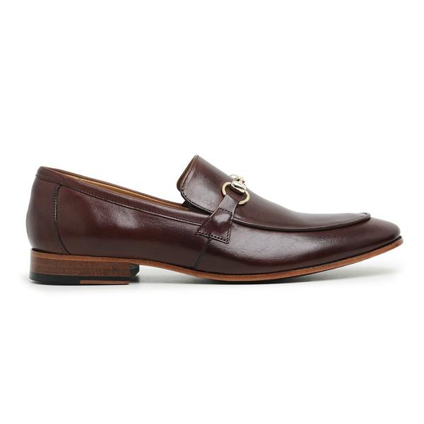 Sapato Social Couro Marrom Premium