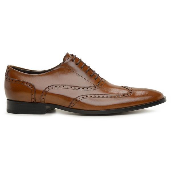 Sapato Social Couro Whisky Wood