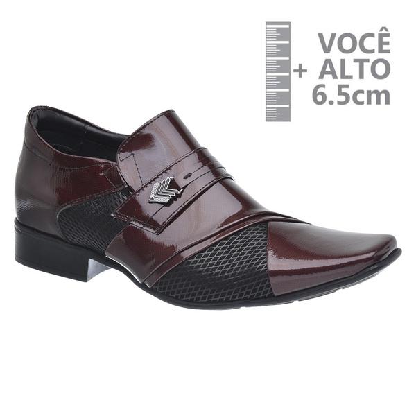 Sapato com Salto Interno Jota Pe Vinho Grow Air Princ