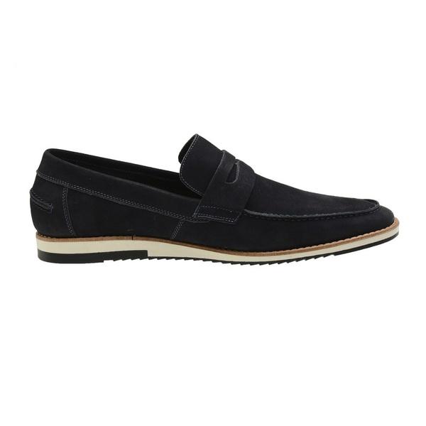 Sapato Casual Couro Marinho Nobuck