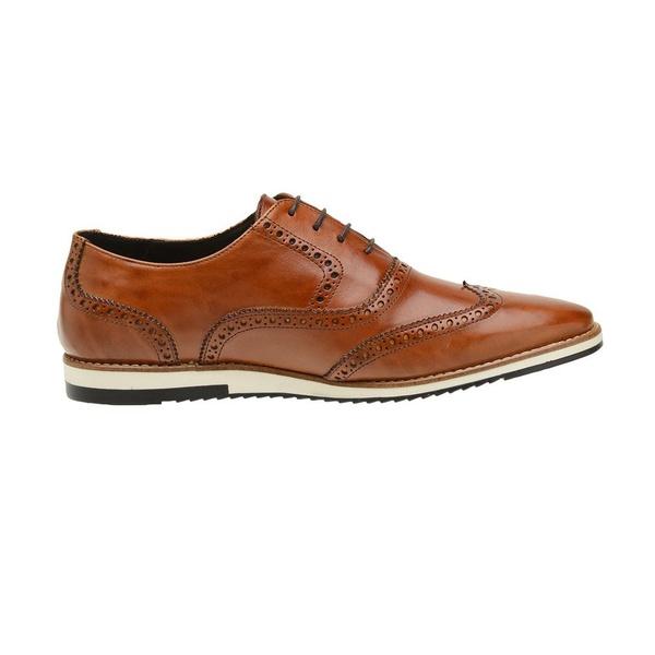 Sapato Casual Couro Marrom Oxford
