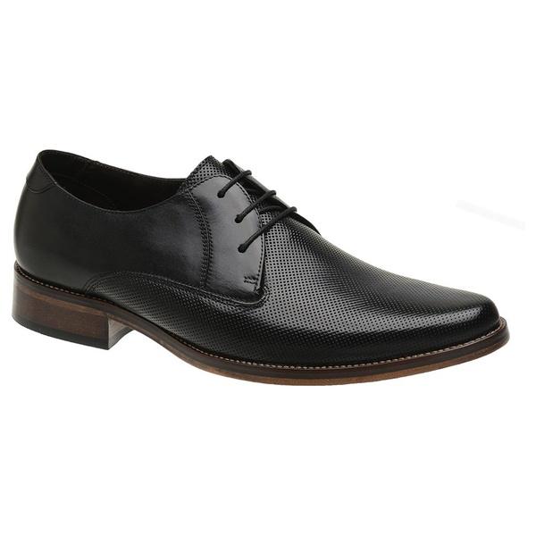 Sapato Social Couro Preto Estampa