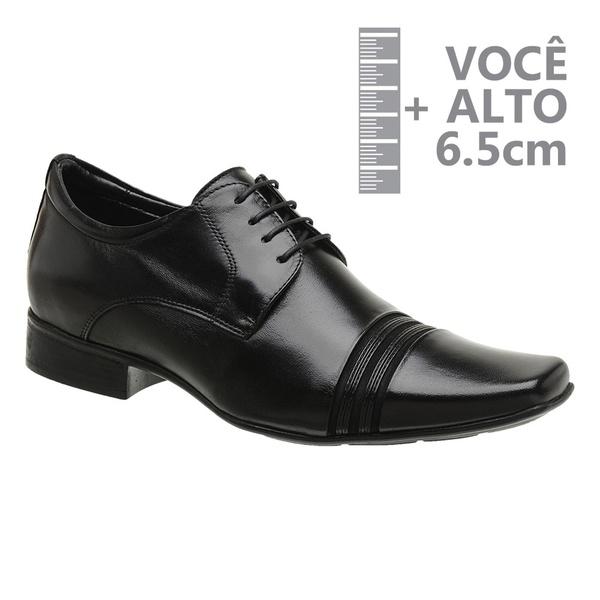 Sapato com Salto Interno Preto Jota Pe Grow Air Connar