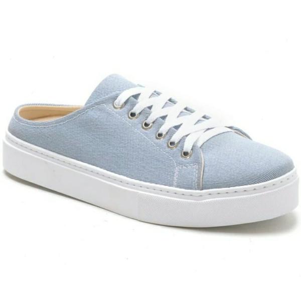 Tênis Mule Feminino Azul Jeans Conforto
