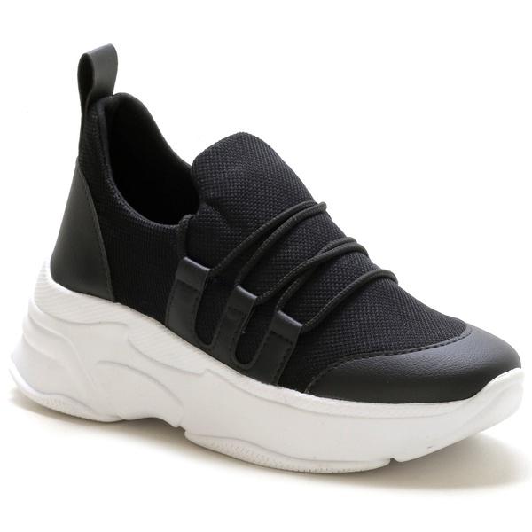 Tênis Feminino Sneaker Chunky Preto
