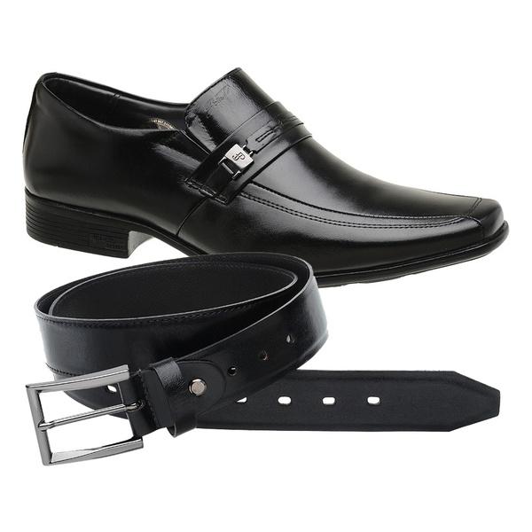 Sapato Jota Pe Preto Air King + Cinto de Couro