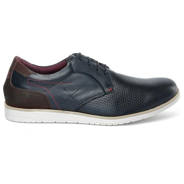 Sapato Masculino Oxford Marinho em Couro Comfort
