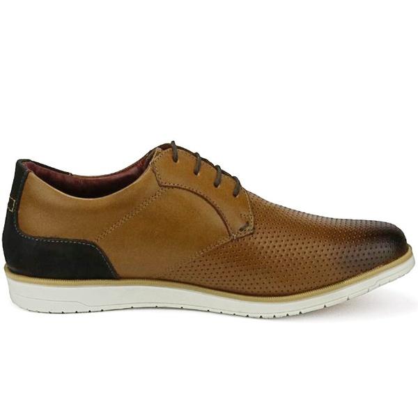 Sapato Masculino Oxford Marrom em Couro Comfort