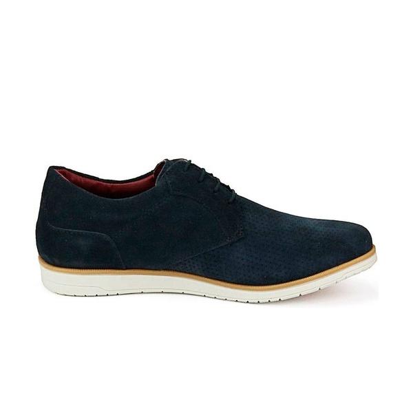 Sapato Masculino Oxford Marinho em Camurça Comfort