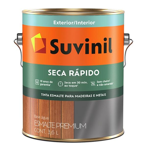 SUVINIL ESMALTE SECAGEM RÁPIDA ACETINADO 3,6L BRANCO