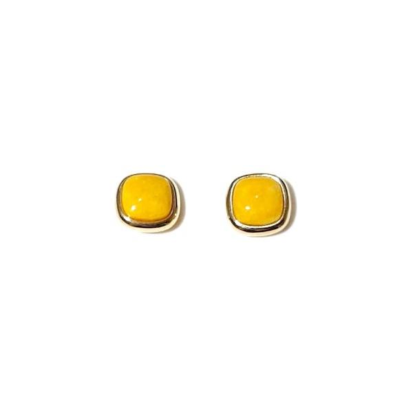 Brinco Folheado a Ouro 18K com Amazonita Amarela