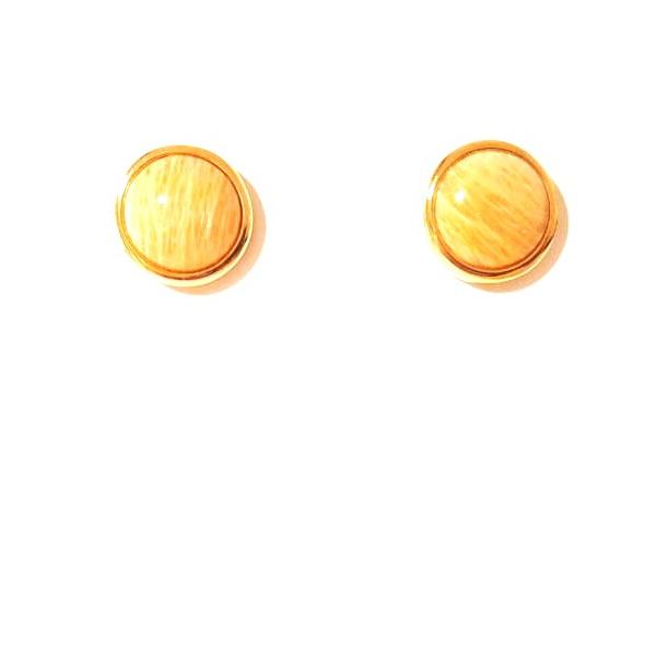 Brinco Folheado a Ouro 18K com Amazonita
