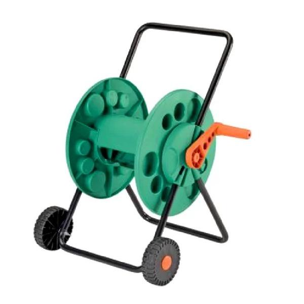 Enrolador de mangueiras com roda Tramontina