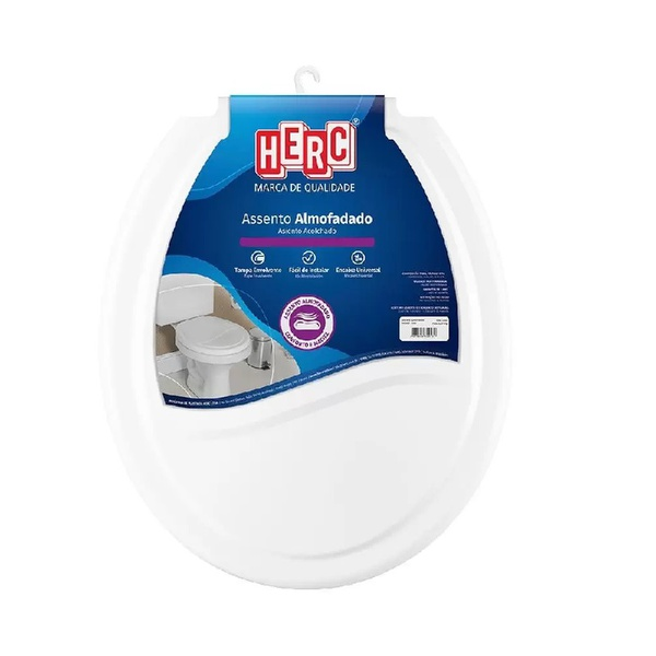 Assento Sanitário Almofadado Branco 2385 Herc