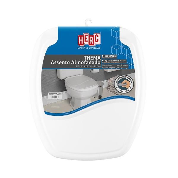 Assento Sanitário Almofadado Thema Branco 2395 Herc
