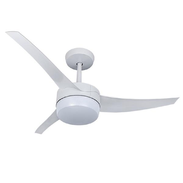 Ventilador Lunik Led Branco 3P 127v com controle remoto