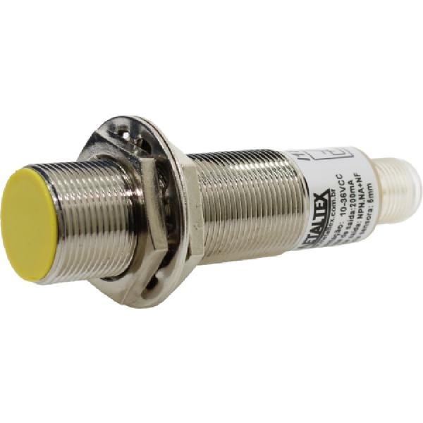 Sensor Indutivo M12 NPN NA+NF 4mm 10-30VCC I12-4-DCN por Cabo Metaltex