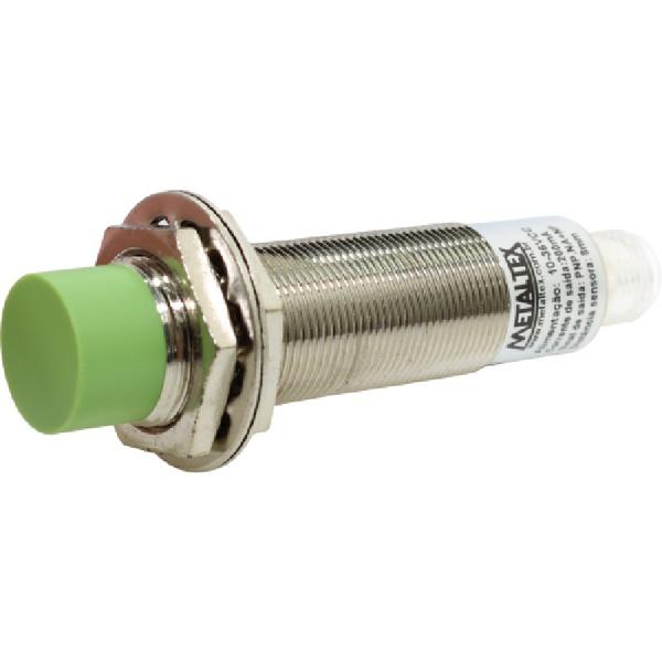 Sensor Indutivo M12 PNP NA+NF 4mm 10-30VCC I12-4-DNC por Cabo Metaltex