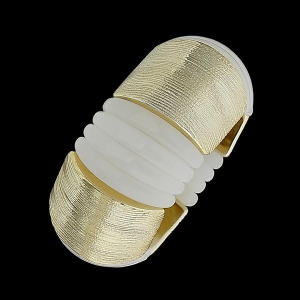 Bracelete Dourado com Acessórios Sintéticos
