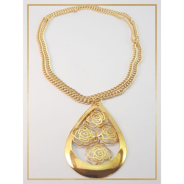 Colar folheado ouro 18k Flor Campos