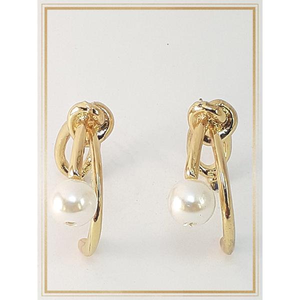 Brinco folheado à Ouro 18k Pearl