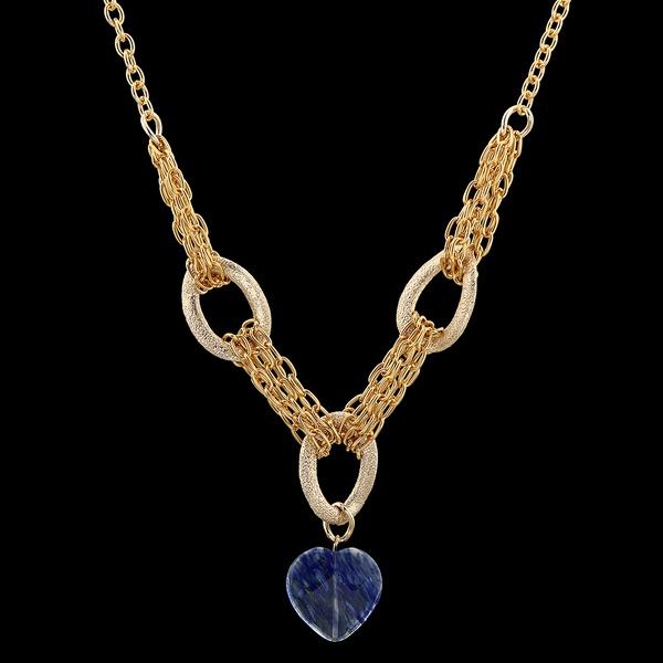 Colar folheado Ouro 18k Gorgeous Blue