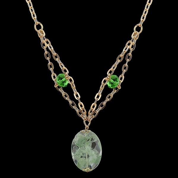 Colar folheado Ouro 18k Gorgeous Green