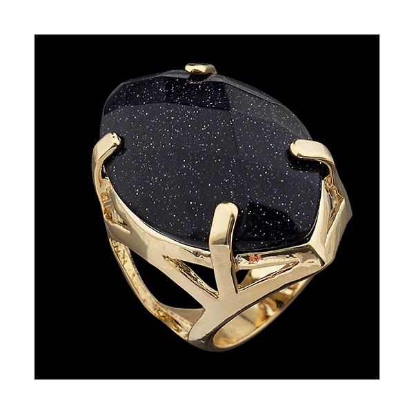 Anel Folehado à Ouro com Pedra Natural Navete