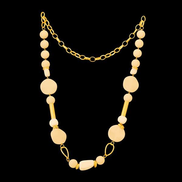 Colar folheado à ouro 18k Pedraria