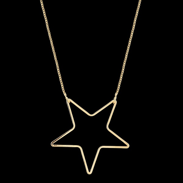 Colar Folheado à Ouro com Acessório Estrela