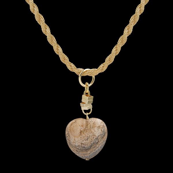 Gargantilha folheada à ouro 18k Amor de Madeira