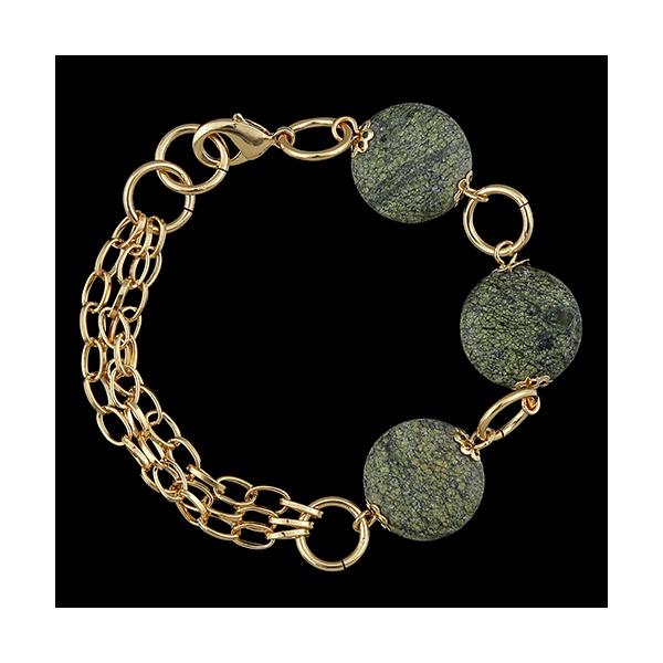 Pulseira Folheada a ouro com pedra natural