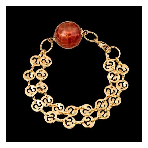 pulseira folheada a ouro,com pedra natural.