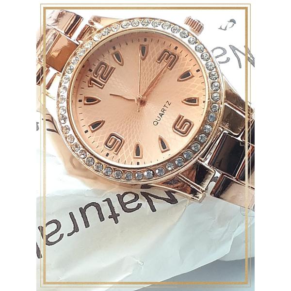 Relógio Feminino folheado Ouro Rosê