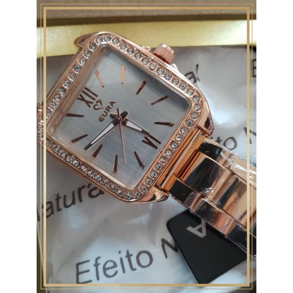 Relógio Feminino folheado Ouro Rosê Romano