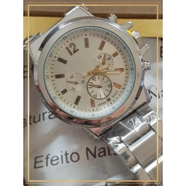 Relógio Masculino Prateado Robust