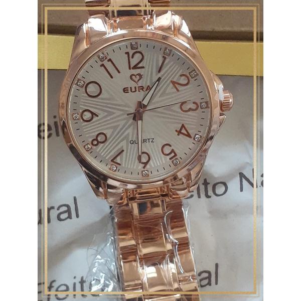 Relógio Feminino Ouro Rosê Silvanne
