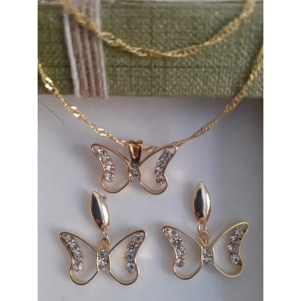 Conjunto folheado Butterfly Strass