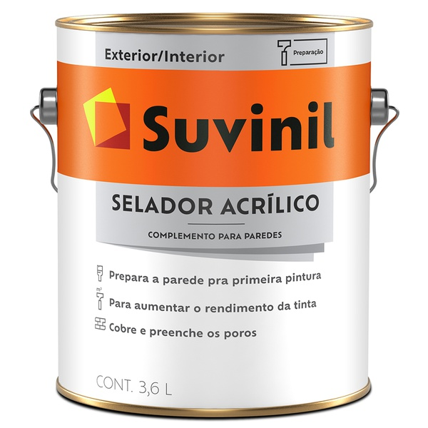 Selador Acrílico Premium Fosco 3,6L - Suvinil